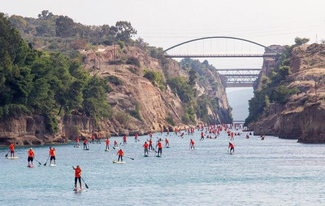 7th Corinth Canal Paddle Crossing